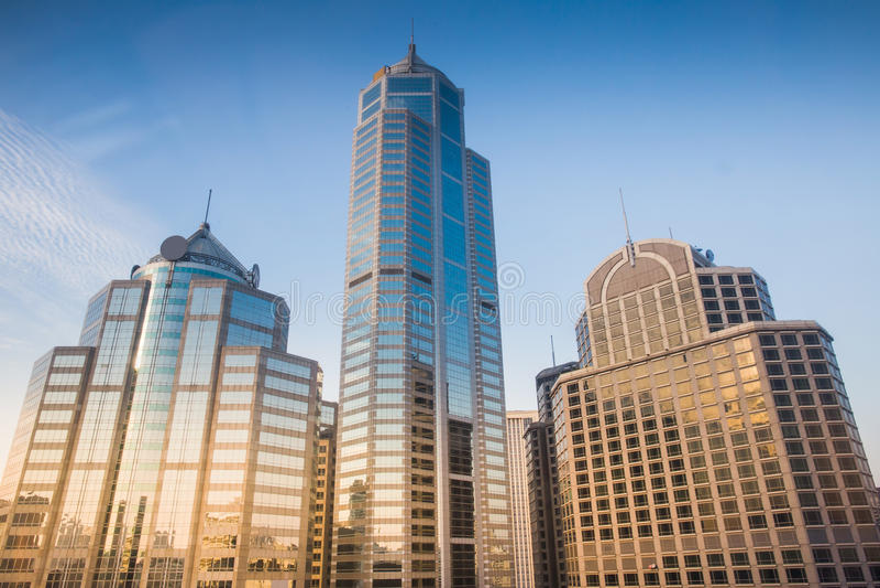 Bürogebäude drei stockfoto