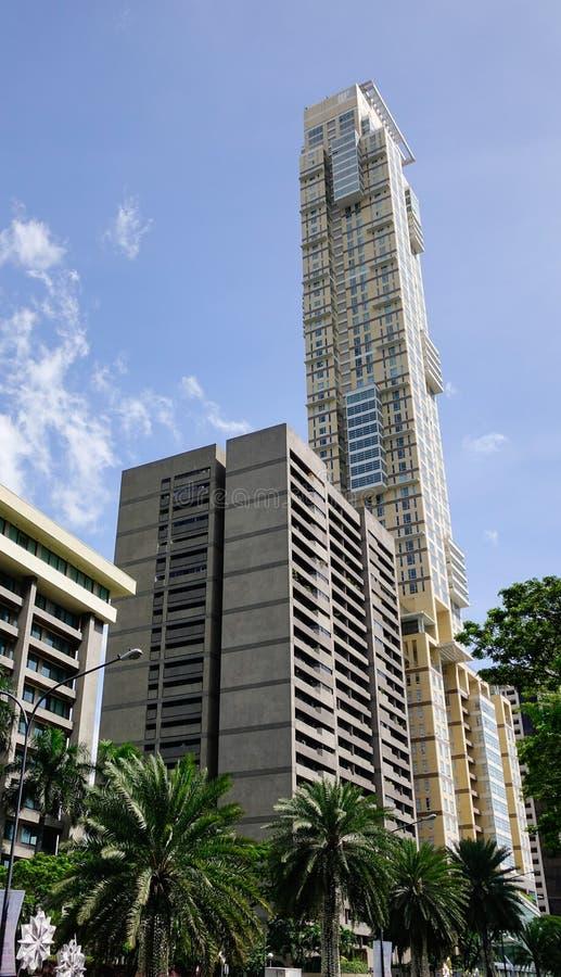 Bürogebäude an Siam-Bezirk in Bangkok, Thailand stockbilder