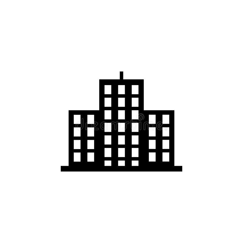 Bürogebäudeikone Element der Gebäudeikone für bewegliche Konzept und Netz apps Ausführliche Bürogebäudeikone kann für Netz benutz lizenzfreie abbildung