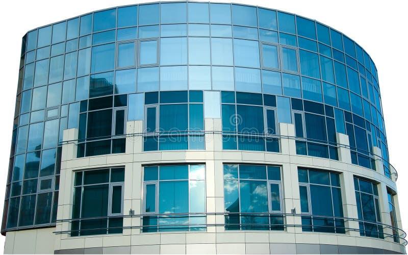 Bürohaus getrennt auf Weiß lizenzfreies stockbild