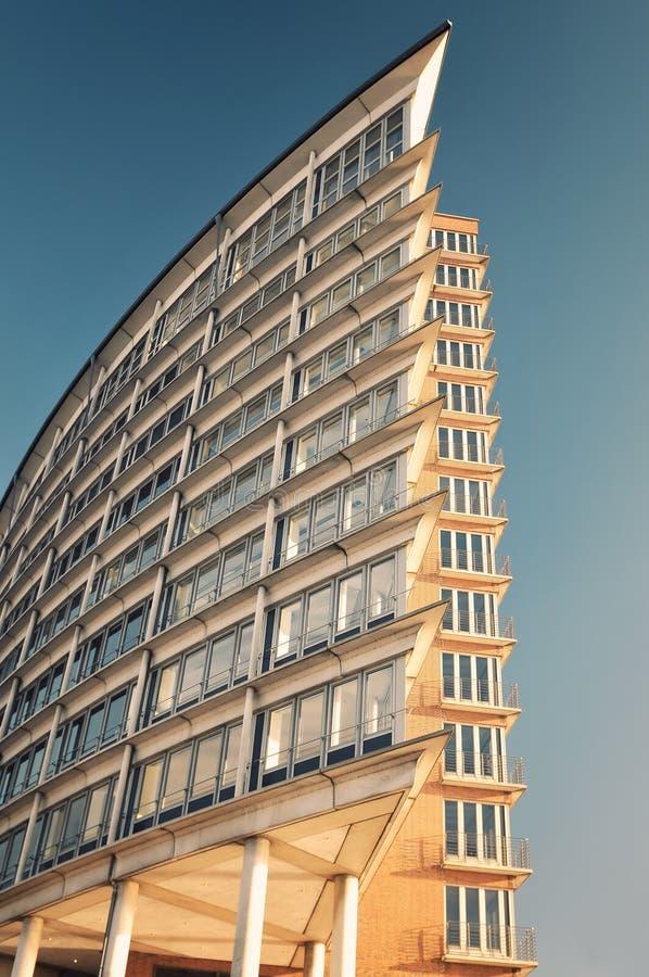Bürohaus in Hamburg, Deutschland lizenzfreie stockfotos
