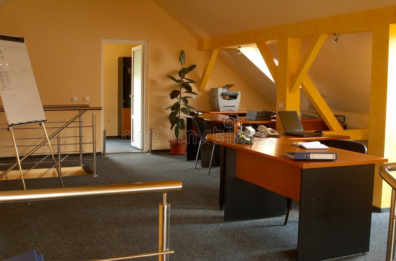 Büroinnenraum 1 stockbild