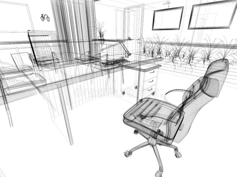 Büroinnenraum vektor abbildung