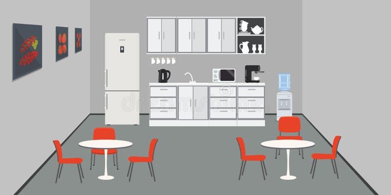 Büroküche Esszimmer im Büro stock abbildung