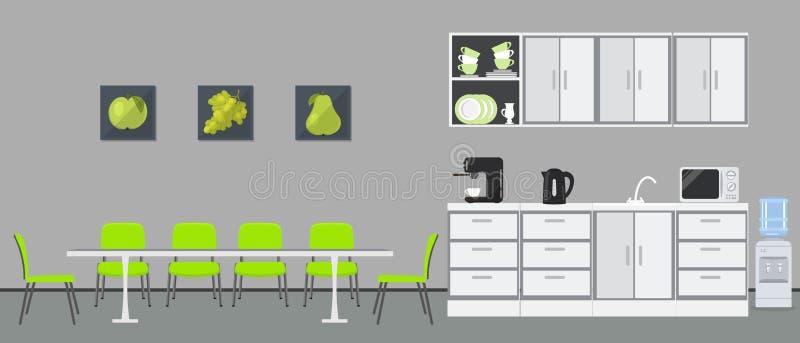 Büroküche Esszimmer im Büro vektor abbildung
