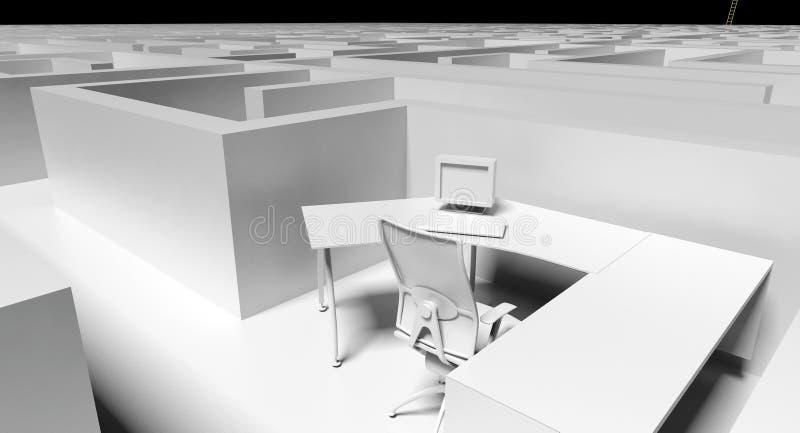 Bürolabyrinth stock abbildung