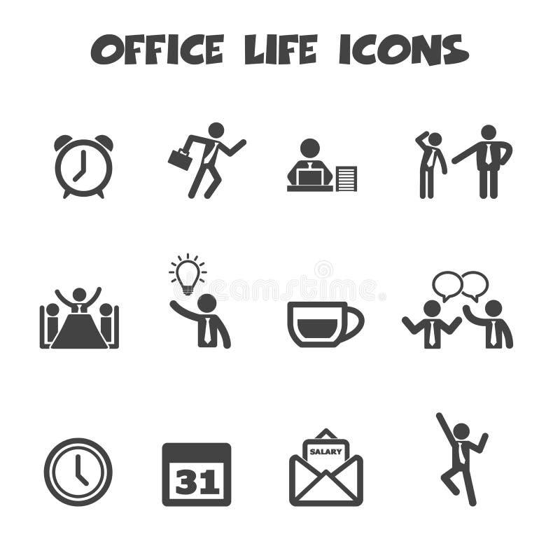 Bürolebenikonen stock abbildung