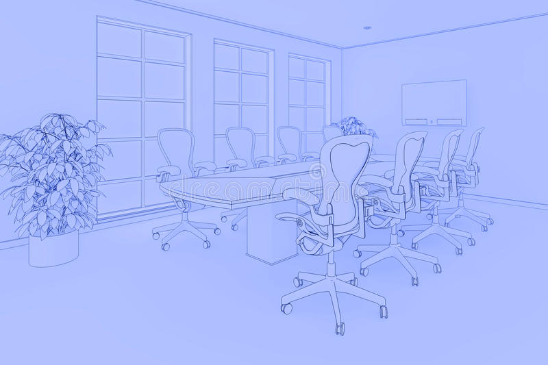 Bürolichtpause lizenzfreie abbildung