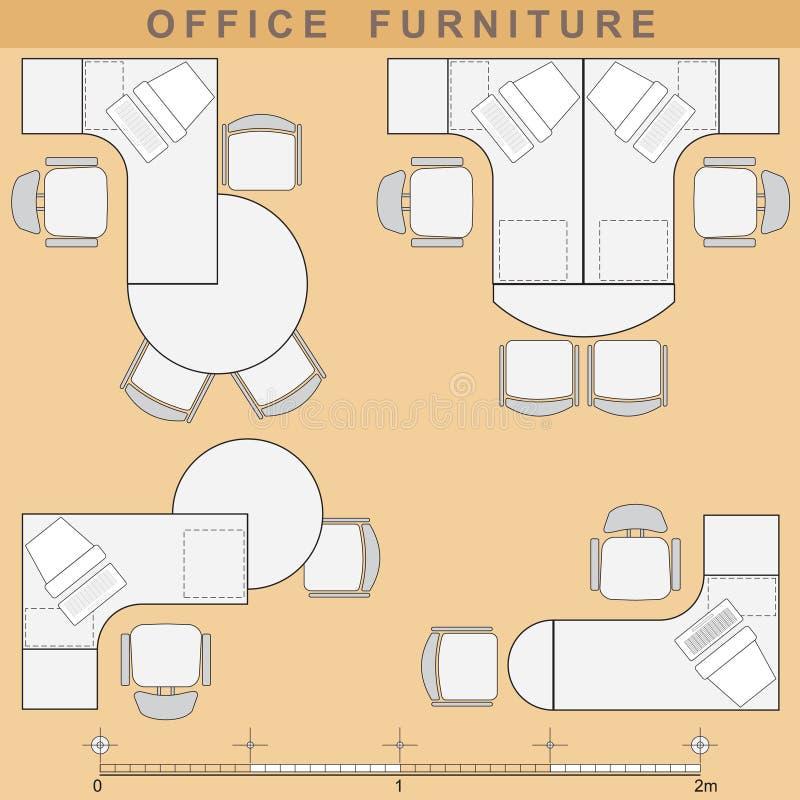 Büromöbel vektor abbildung