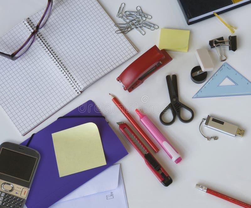 Büromaterial stockfotos