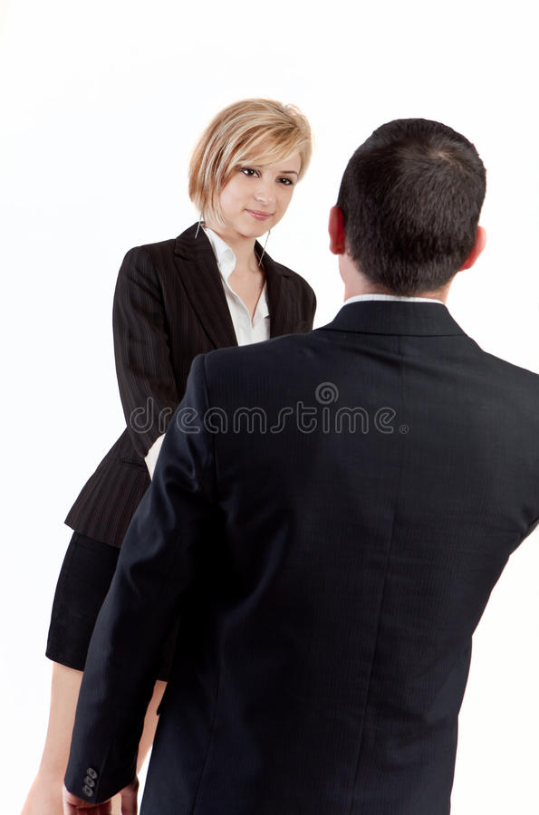 Büropartner stockbilder