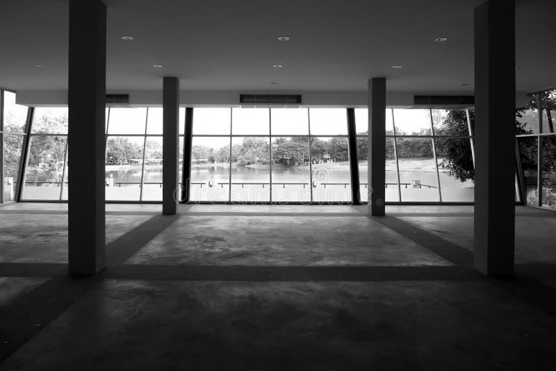 Büroraum-Innenhintergrund stockfotografie