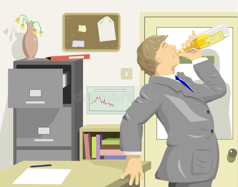 Bürosäufer lizenzfreie abbildung