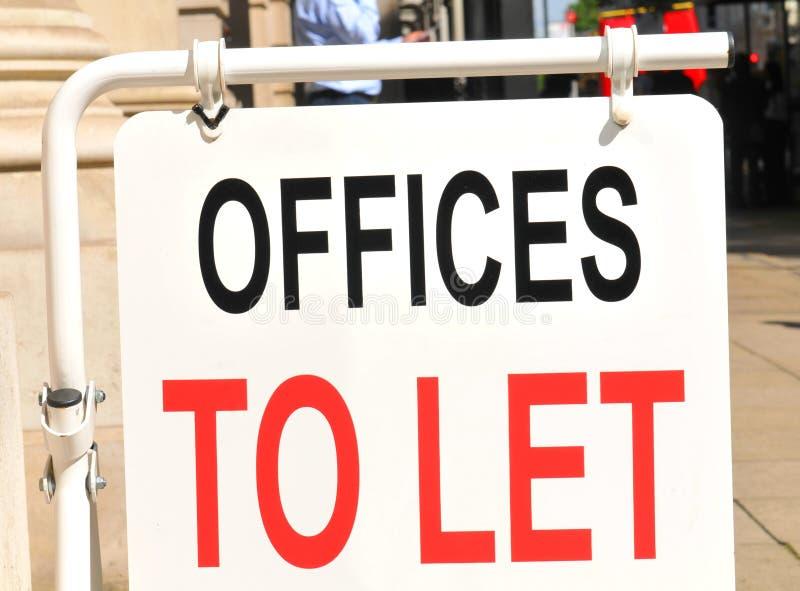 Büros zum zu lassen lizenzfreies stockbild