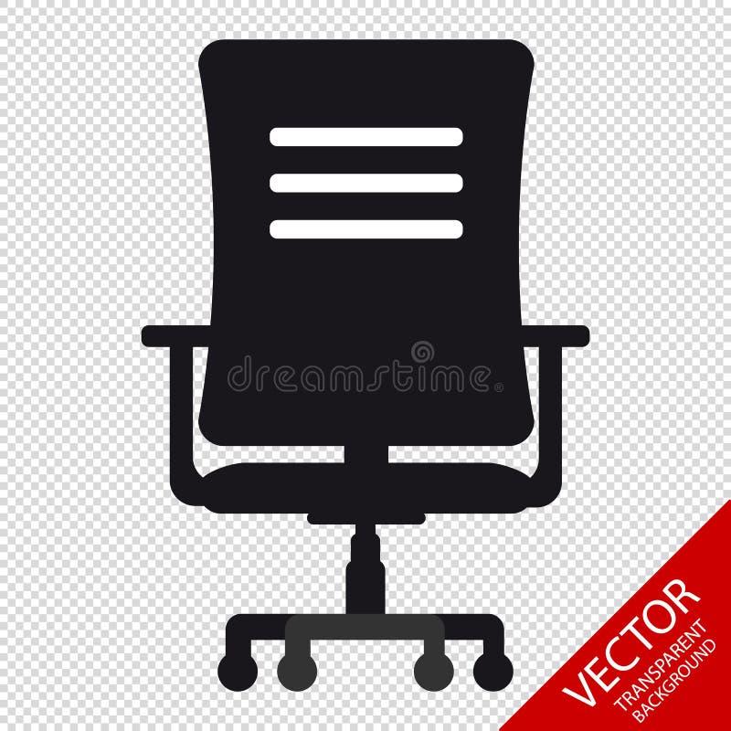 Bürosessel-Ikone - Vektor-Illustration - lokalisiert auf transparentem Hintergrund vektor abbildung