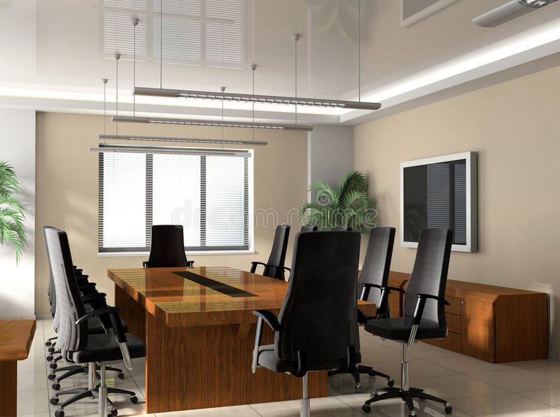 Bürositzungssaal stock abbildung