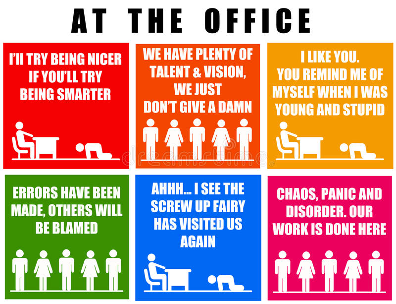 Bürospaß stock abbildung