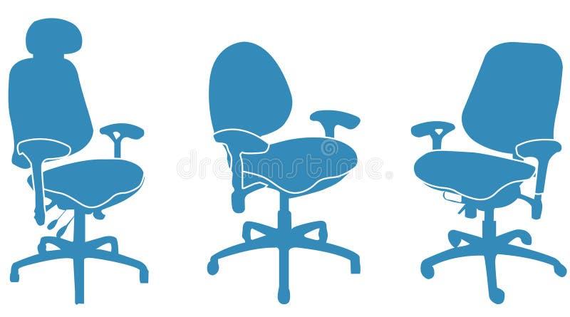 Bürostühle stock abbildung