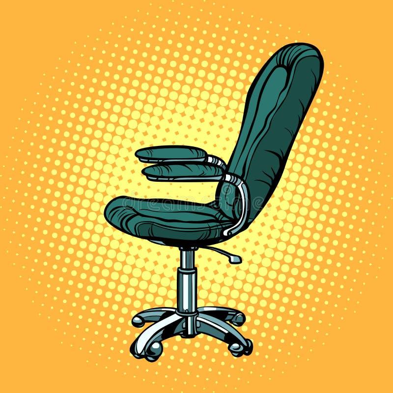 Bürostuhl, Möbel für Arbeit und Geschäft lizenzfreie abbildung