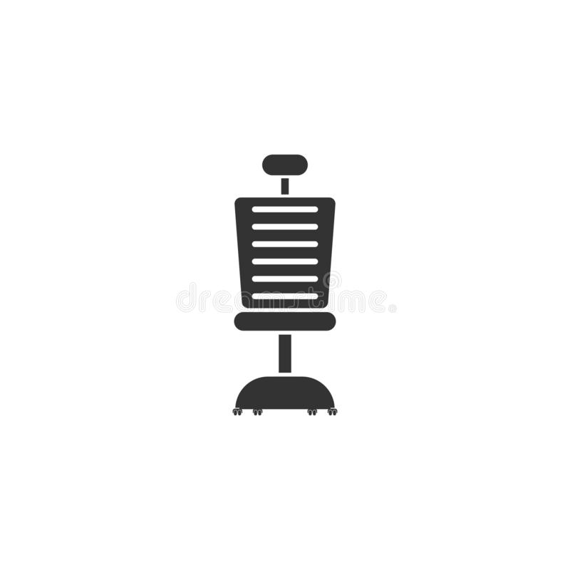 Bürostuhlikone flach vektor abbildung