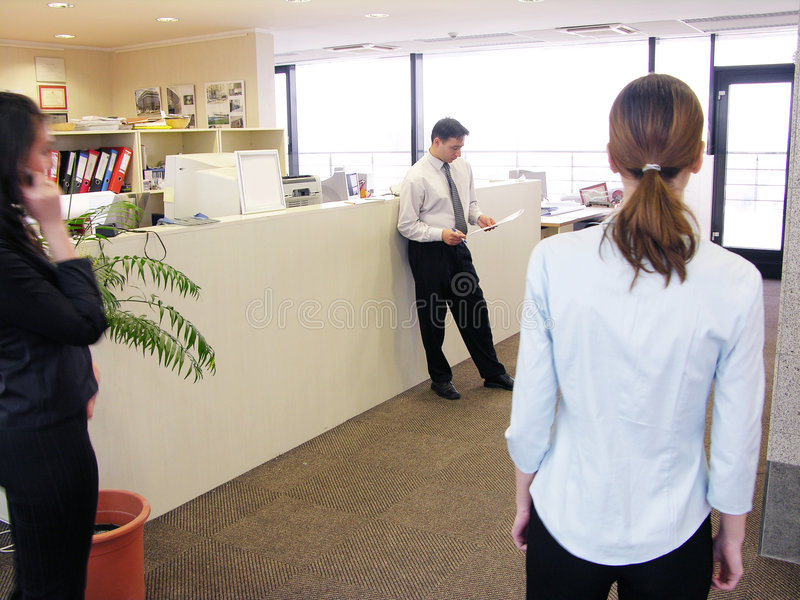 Büroszene stockfotos