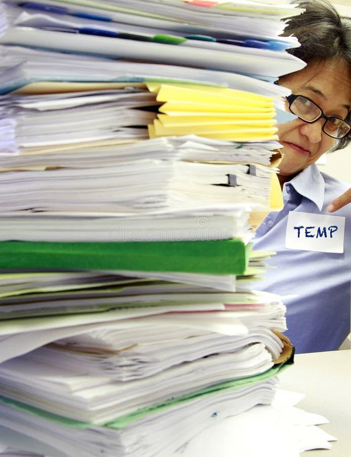Bürotemp-Hilfe lizenzfreies stockbild