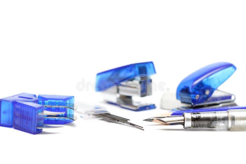Bürozubehöre lizenzfreie stockfotos