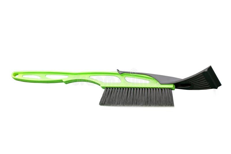 Bürste für Reinigungsautoschnee lizenzfreies stockfoto