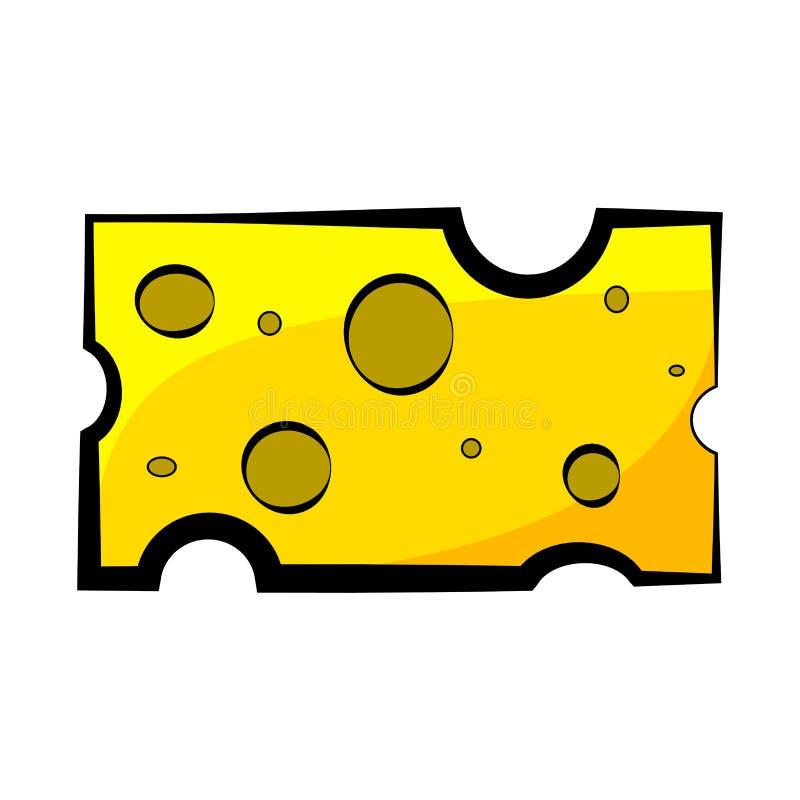 Bürste für Schultafelkarikatur-Vektordesign lokalisiert auf wh stock abbildung
