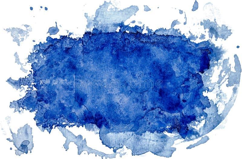 Bürste gemaltes Aquarell auf abstraktem Hintergrundentwurfspapieranschlag lizenzfreie abbildung