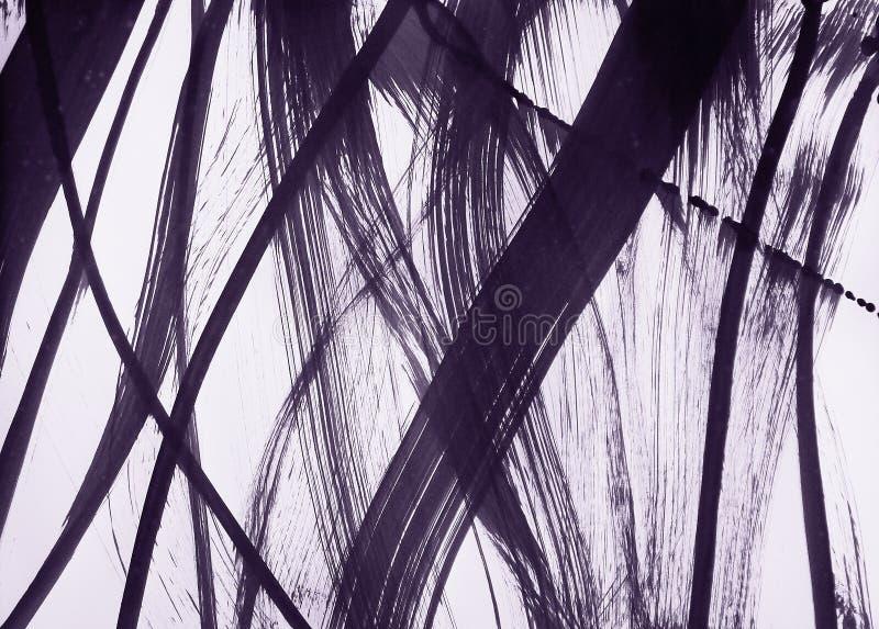 Bürste-gezeichnete flexible Linien sind breit und dünn stock abbildung