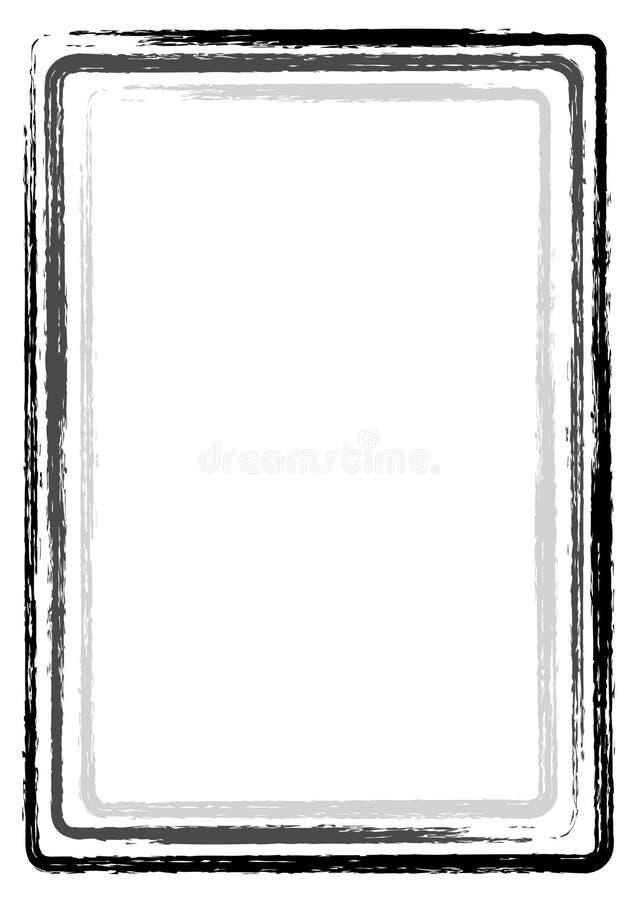 Bürstenanschlag-Rahmeninternatsschüler beschriftet schwarzes Grau lizenzfreie stockfotos