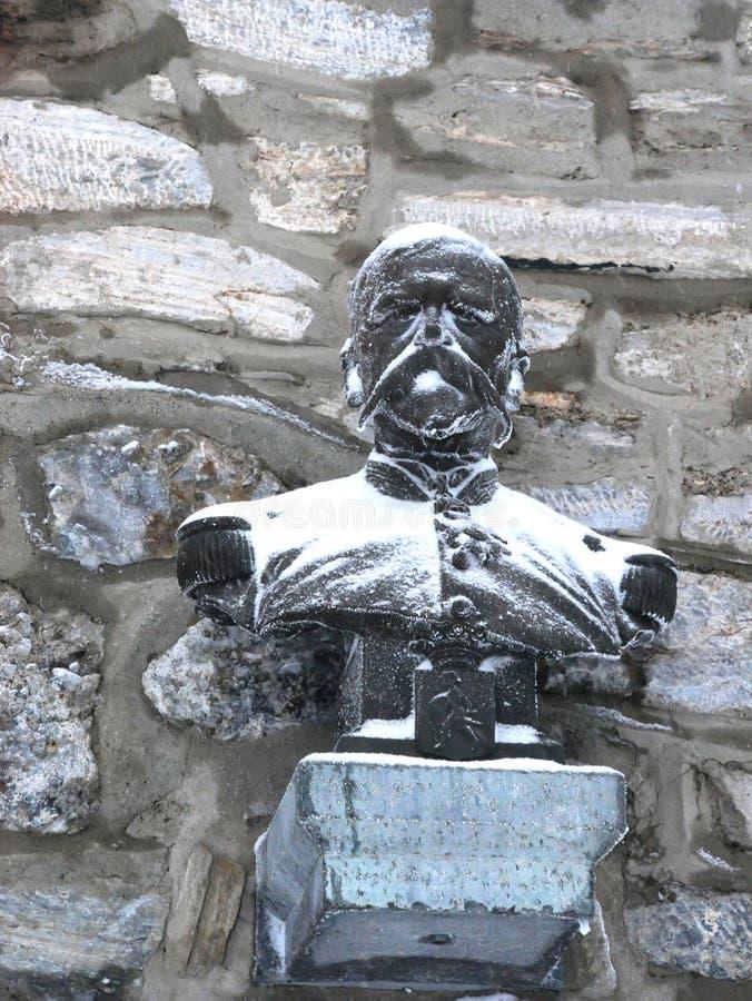 Büste des General Nansouty-Schöpfers der Sternwarte Pic du Midi lizenzfreies stockfoto