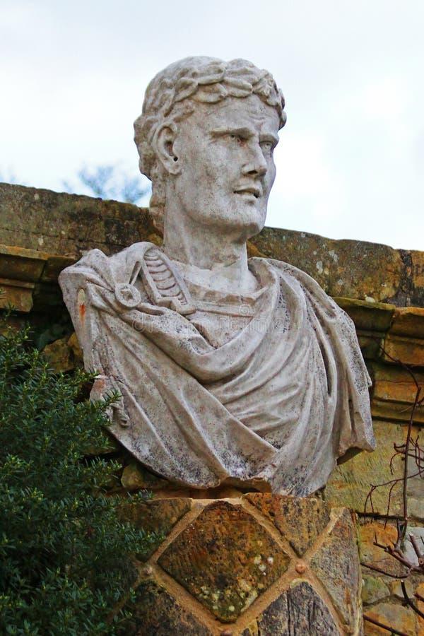 Büste eines römischen Kopfes lizenzfreies stockbild
