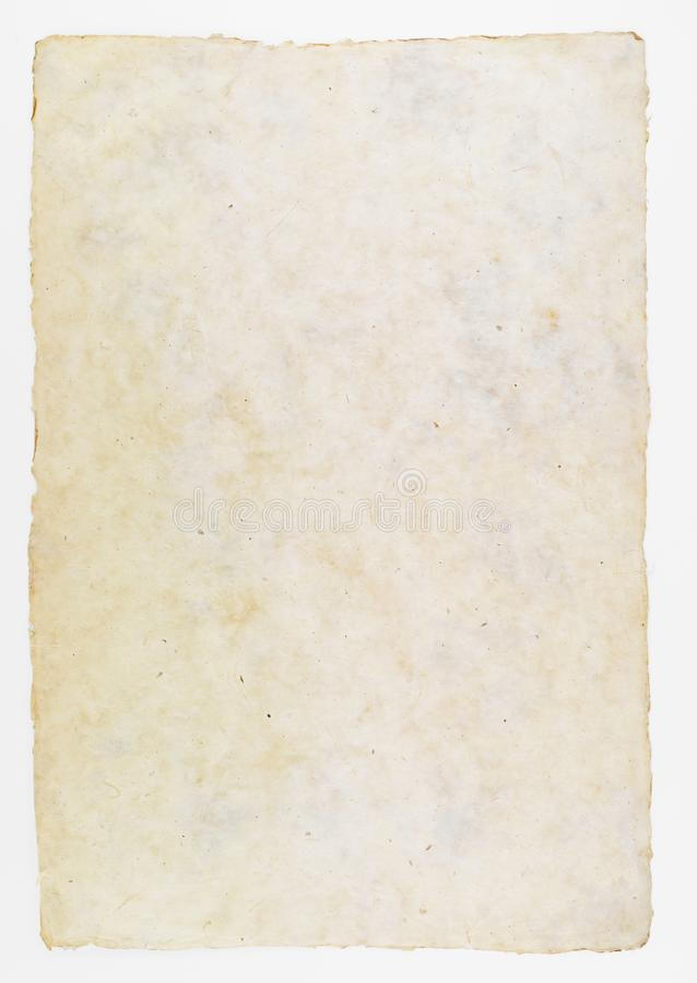 Büttenpapier für historischen Dokumentenhintergrund stockfoto
