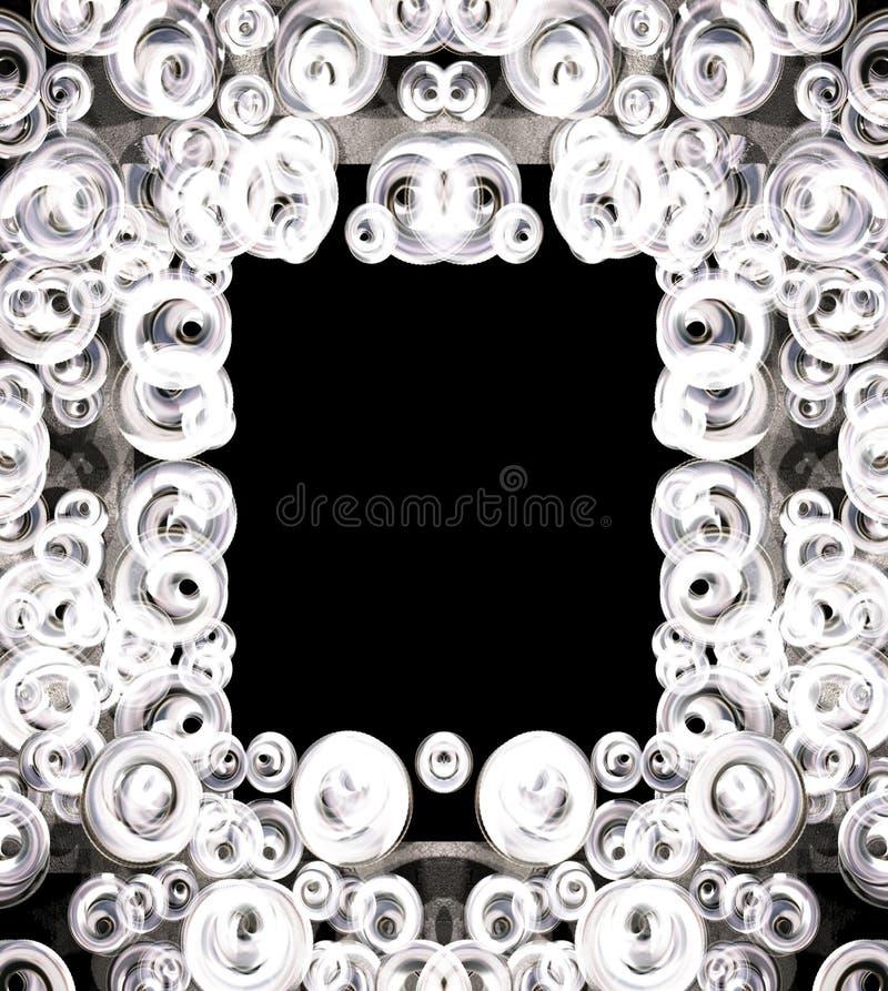 Bąbel czarny i biały rama obraz royalty free