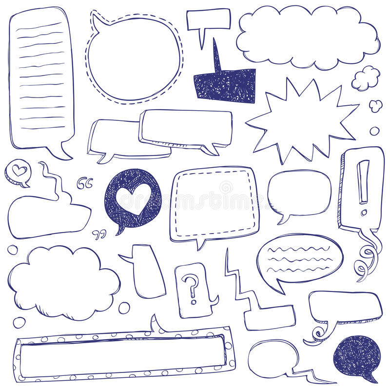 bąbel doodles mowę zdjęcia stock