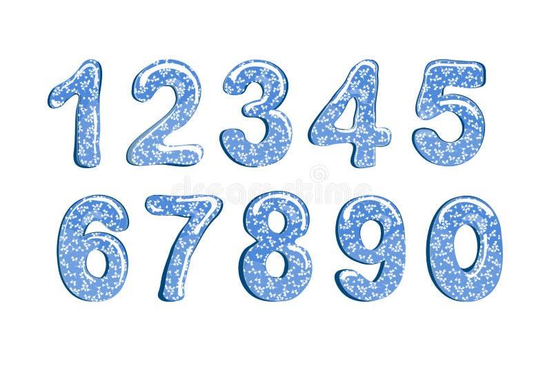 Bąbel kreskówka chrzcielnicy Kolorowy 3d kwiecisty, wiosen liczby pojedynczy białe tło również zwrócić corel ilustracji wektora ilustracja wektor