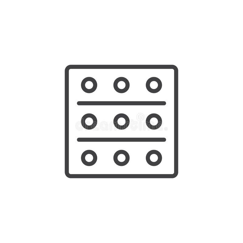 Bąbel lekarstwo pigułek konturu ikona ilustracji