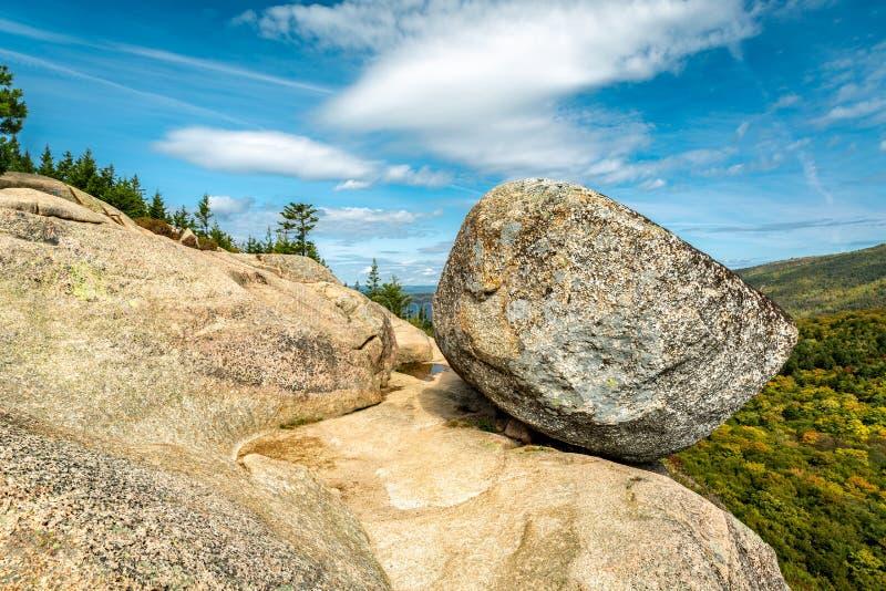 Bąbel skała w Acadia parku narodowym zdjęcie royalty free