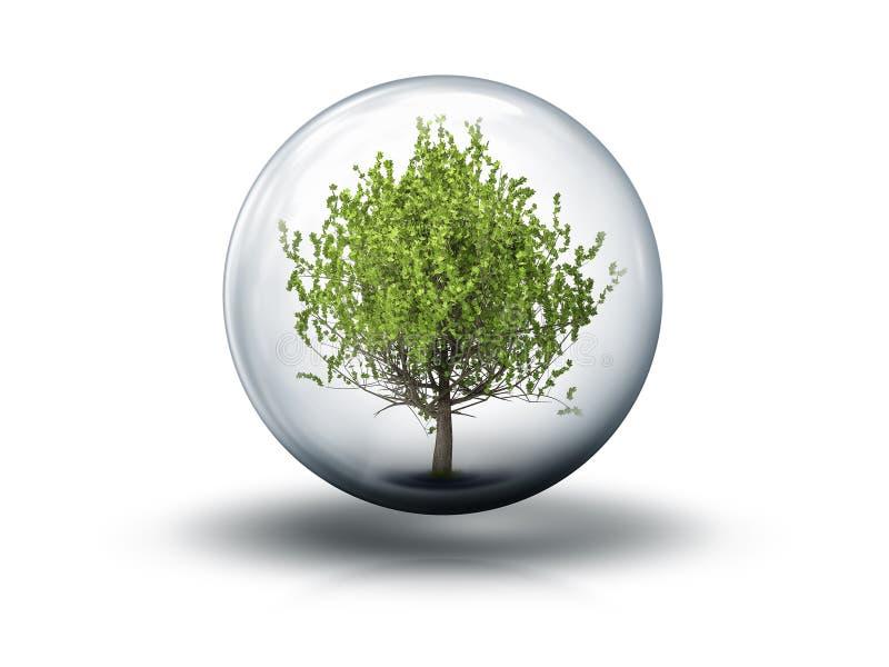 Bąbel z drzewem ilustracji