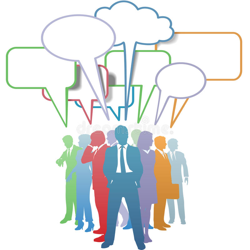 bąbla biznesu kolorów komunikacyjni ludzie mowy royalty ilustracja