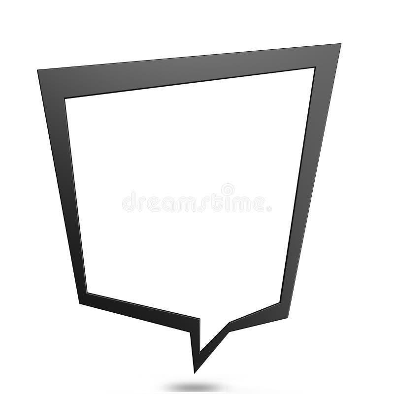 bąbla graficznej osoby mowy target14_0_ wektor ilustracji