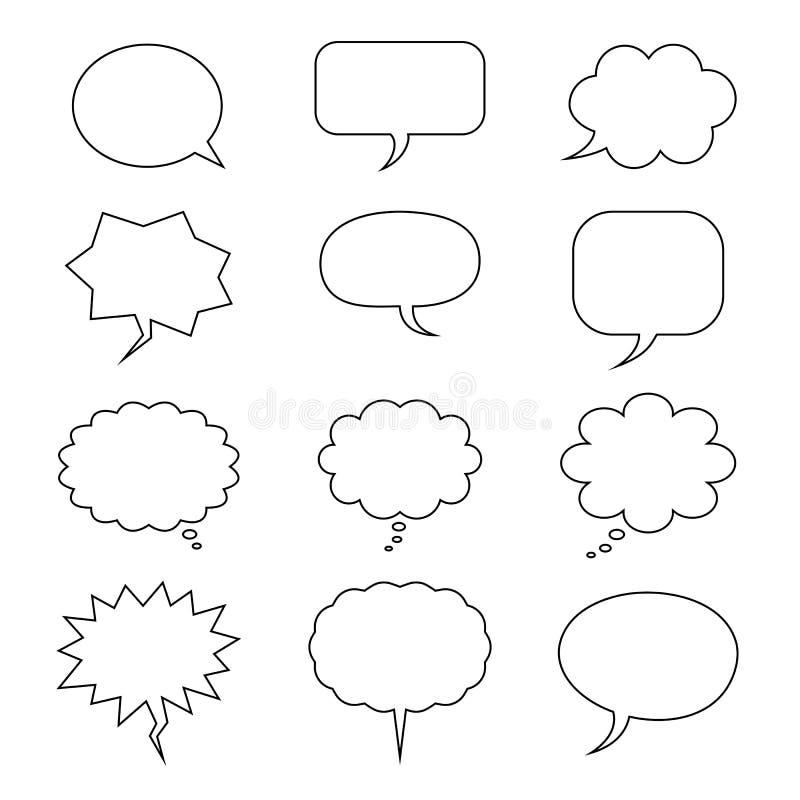 bąbla graficznej osoby mowy target14_0_ wektor Set abstrakt chmury ikony również zwrócić corel ilustracji wektora ilustracja wektor