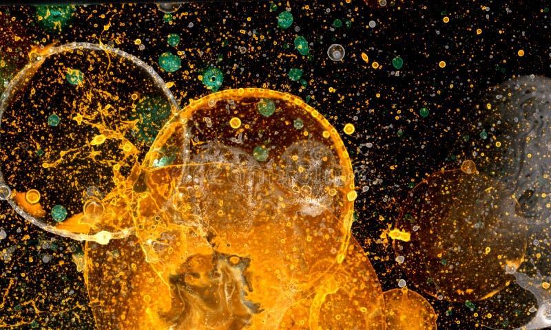 Bąbla Grunge złoto zdjęcia stock
