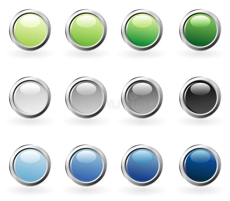 bąbla guzików koloru pierścionek royalty ilustracja