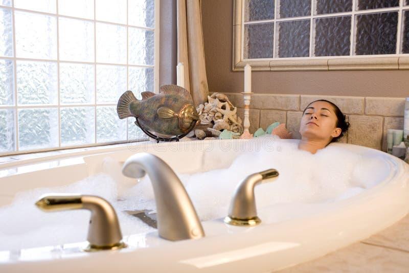 bąbla kąpielowy zabranie obraz stock