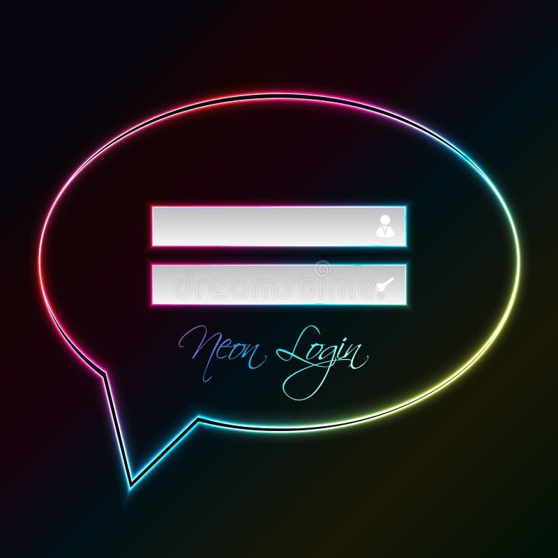 bąbla nazwa użytkownika ekranu mowa ilustracja wektor