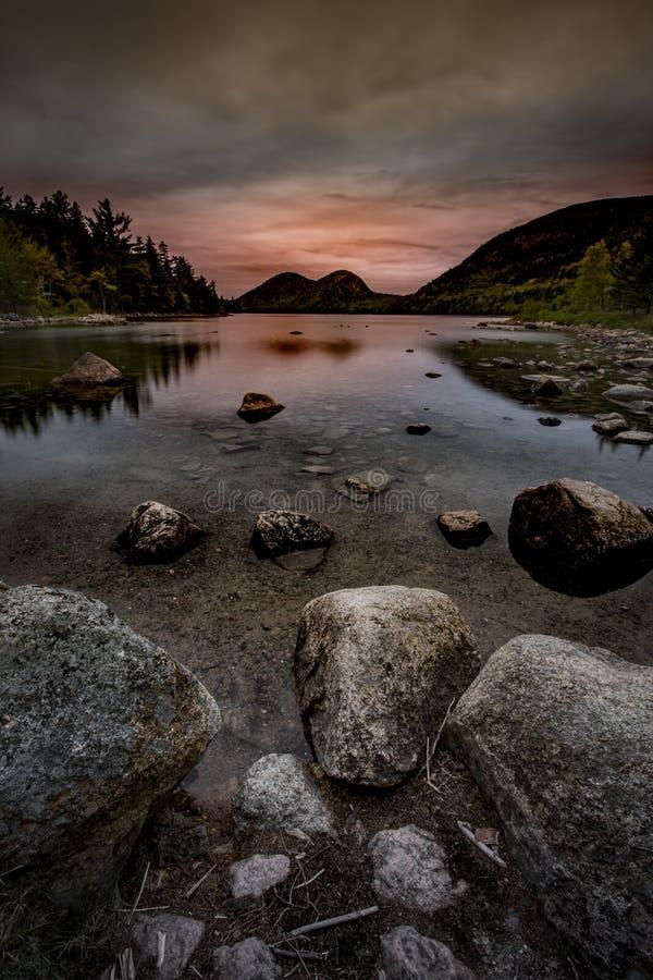 Bąble przy Acadia parkiem narodowym zdjęcie stock