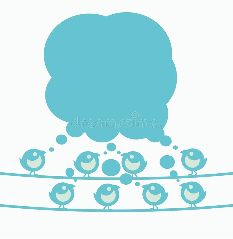 bąbli mowy tweets ilustracja wektor